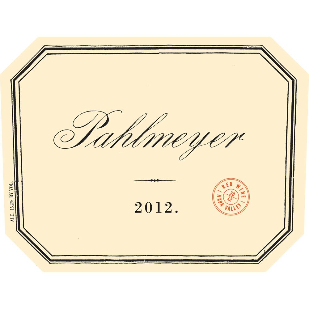 Pahlmeyer Napa Valley Proprietary Red 2012 Front Label