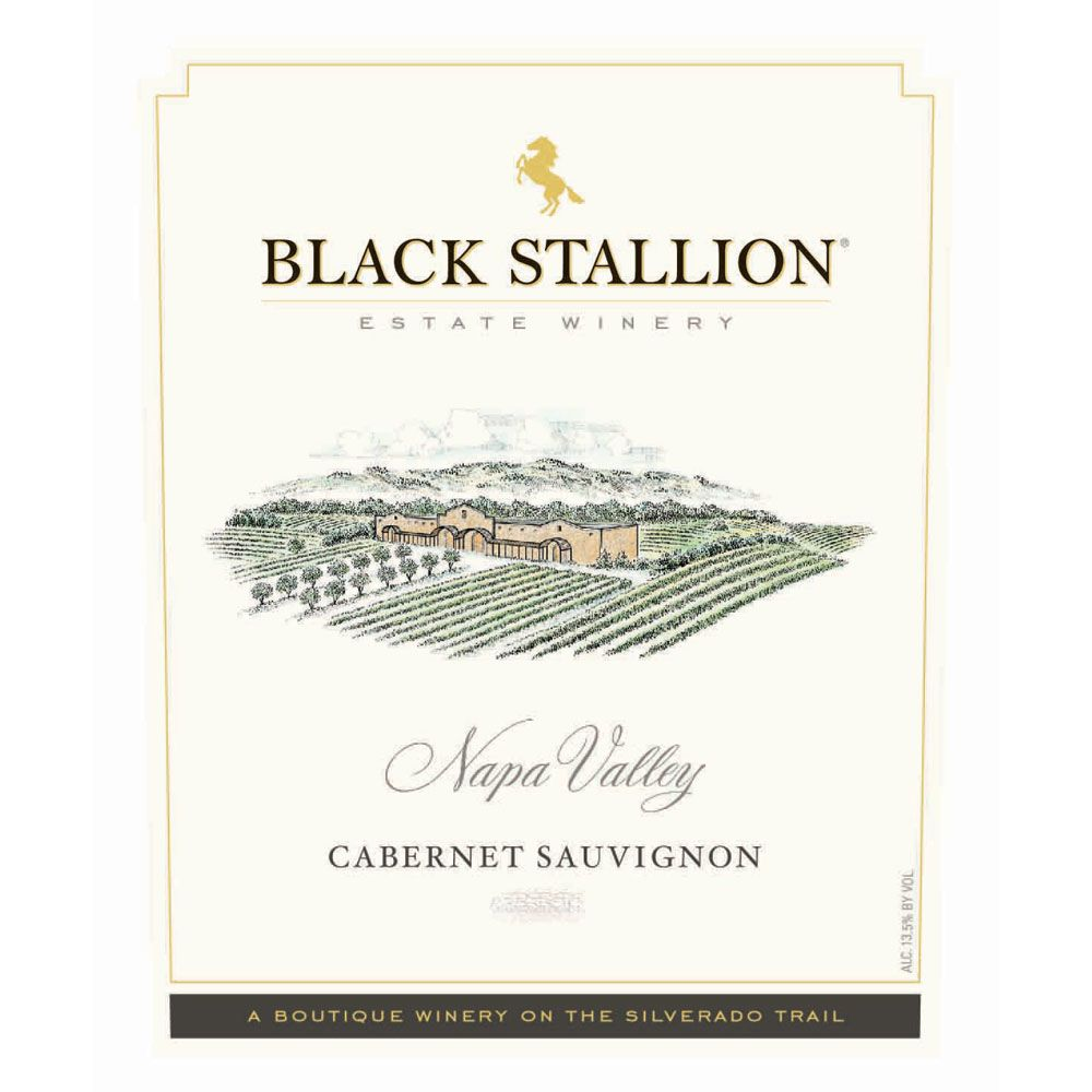 Black Stallion Winery Cabernet Sauvignon 2012 Front Label