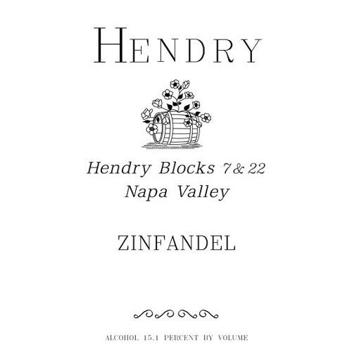 Hendry Block 7 and 22 Zinfandel (375ML half-bottle) 2011 Front Label