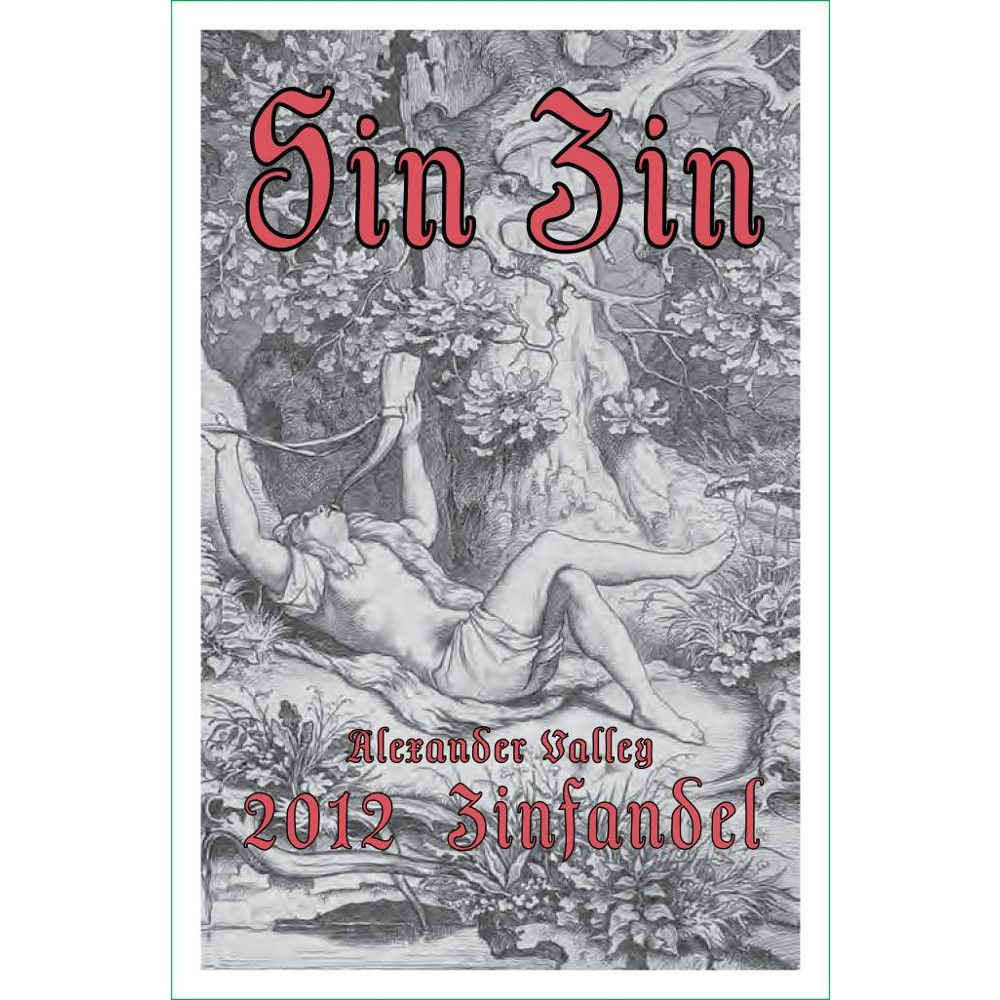 Alexander Valley Vineyards Sin Zin Zinfandel 2012 Front Label
