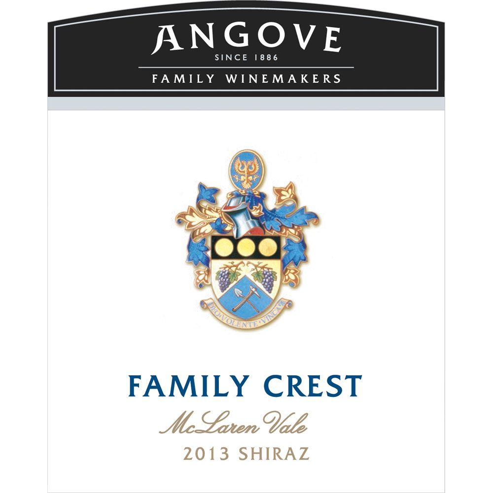 Angove Family Winemakers Family Crest Shiraz 2013 Front Label