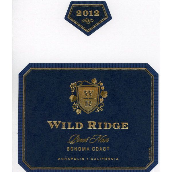 Wild Ridge Pinot Noir 2012 Front Label