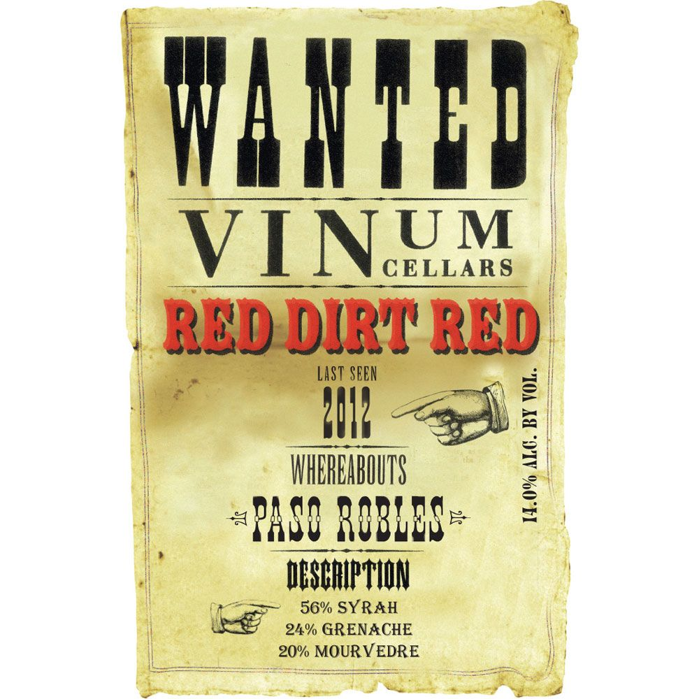 Vinum Cellars Red Dirt Red GSM 2012 Front Label