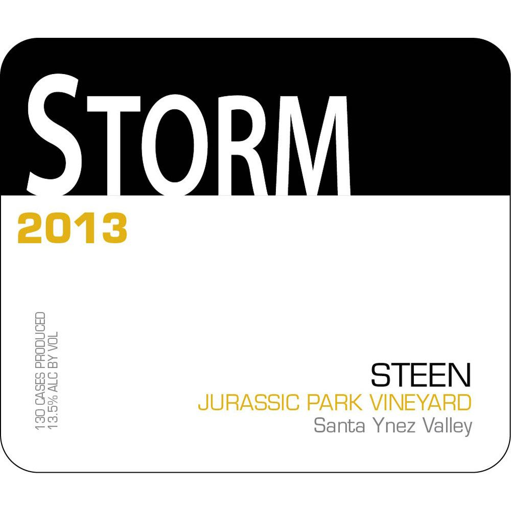 Storm Wines Jurassic Park Vineyard Steen 2013 Front Label