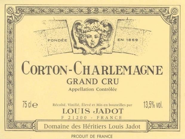 Louis Jadot Corton-Charlemagne 2012 Front Label