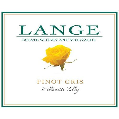 Lange Winery Pinot Gris 2013 Front Label