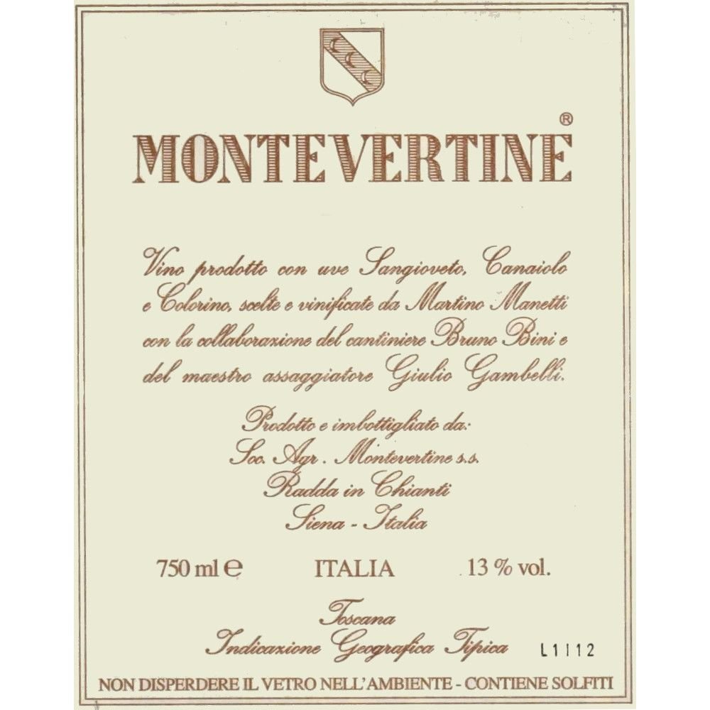 Montevertine Rosso di Toscana 2011 Front Label