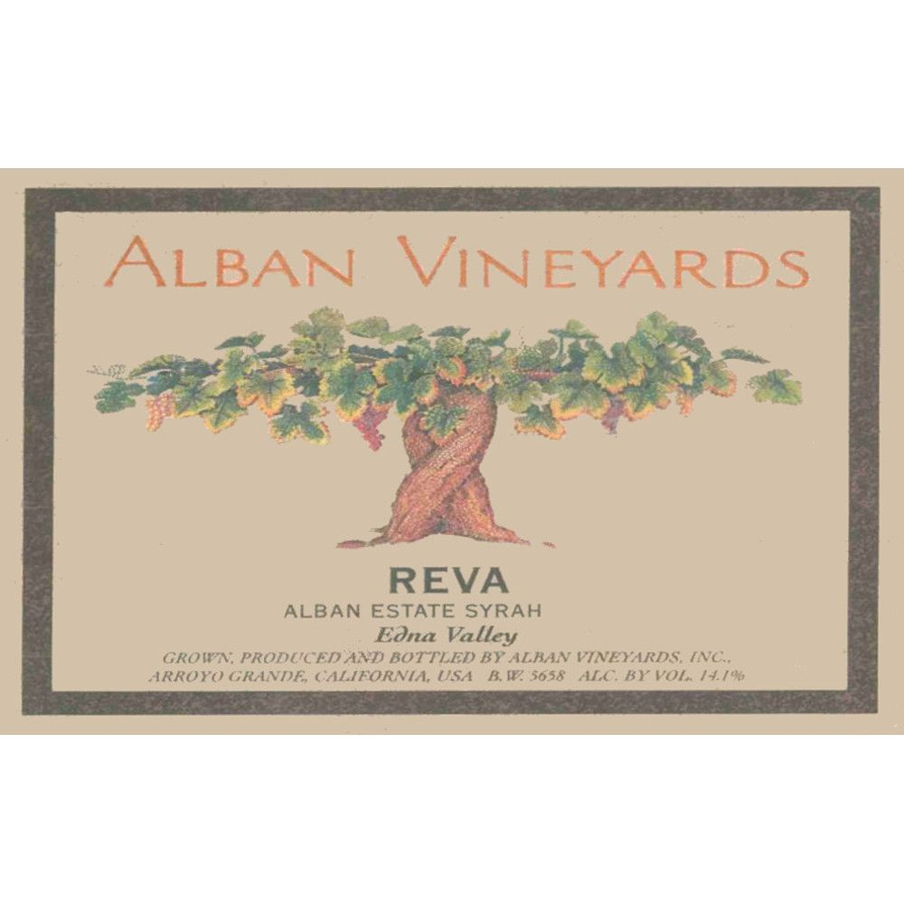Alban Reva Estate Syrah 2003 Front Label