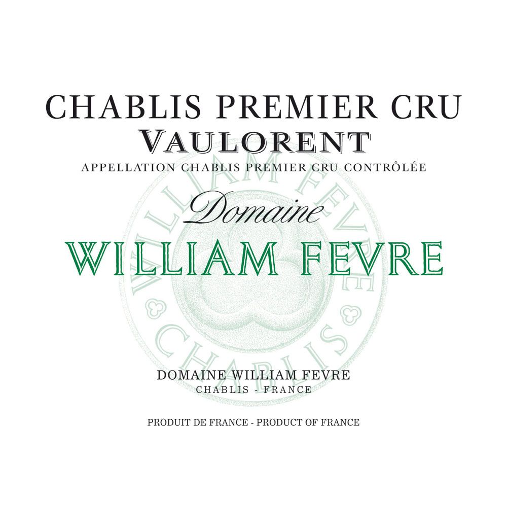 William Fevre Chablis Vaulorent Premier Cru (1.5 Liter Magnum) 2012 Front Label