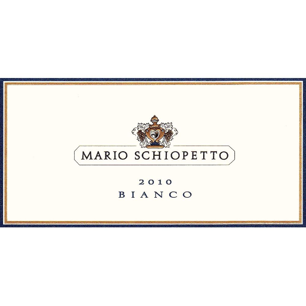 Schiopetto Pinot Bianco 2010 Front Label