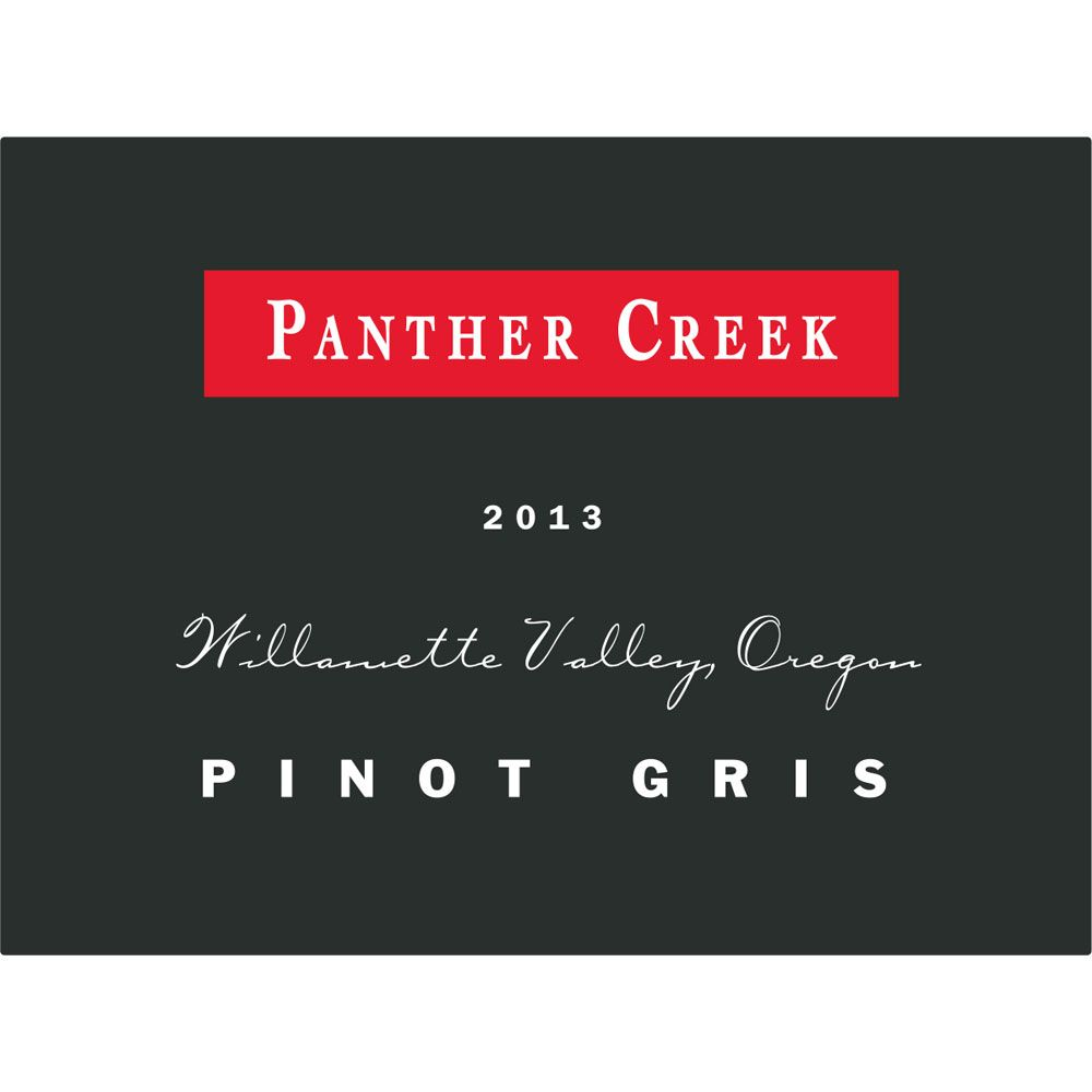 Panther Creek Pinot Gris 2013 Front Label