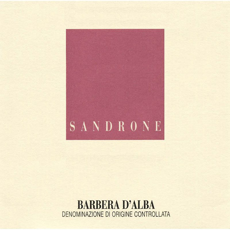 Sandrone Barbera d'Alba 2012 Front Label