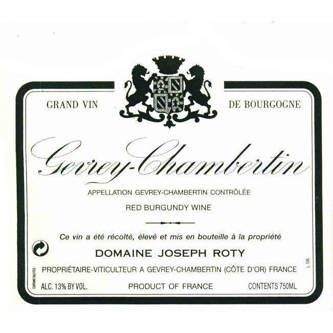 Domaine Joseph Roty Gevrey-Chambertin Les Fontenys 1998 Front Label