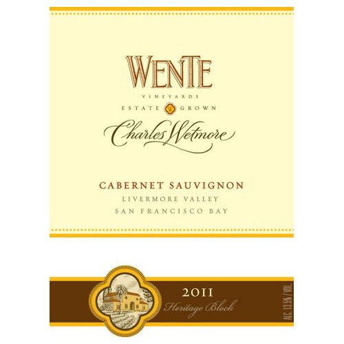 Wente Charles Wetmore Cabernet Sauvignon 2011 Front Label