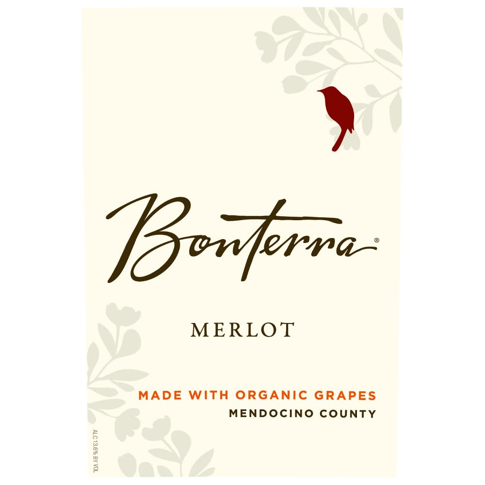 Bonterra Organically Grown Merlot 2012 Front Label