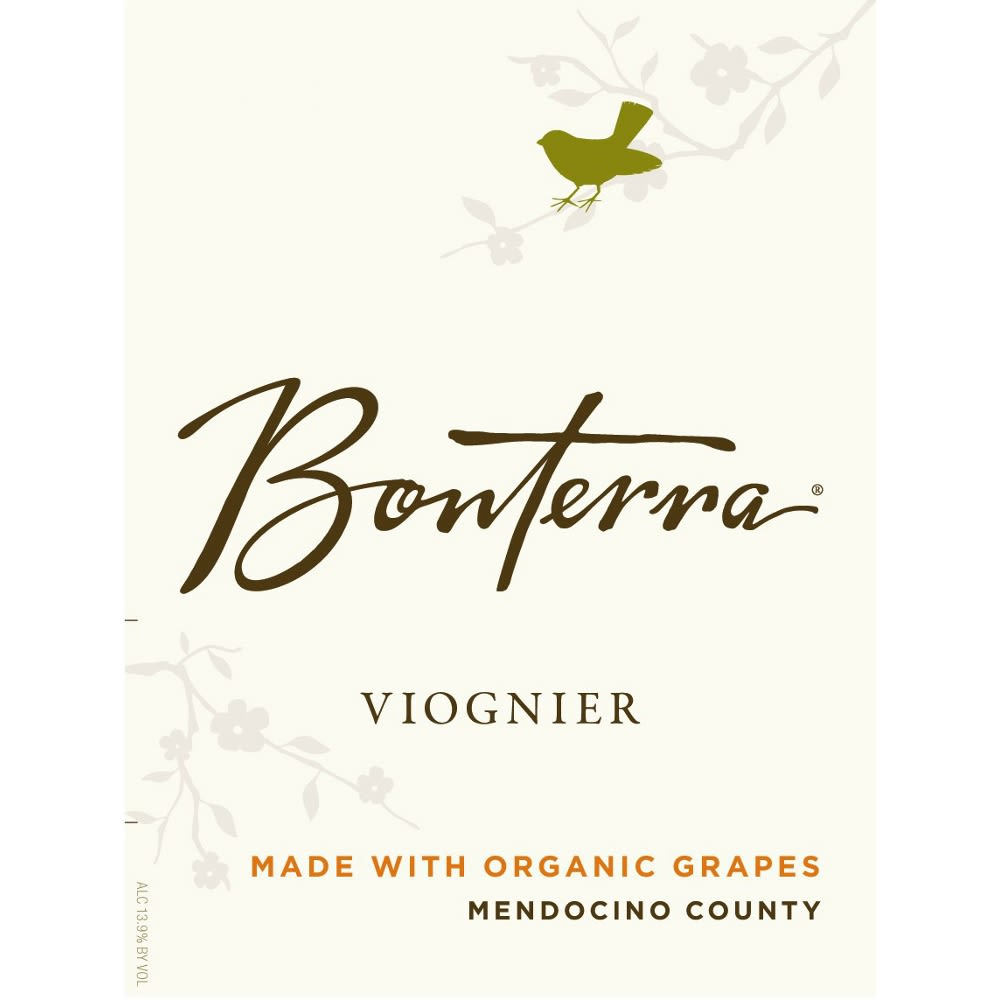 Bonterra Organically Grown Viognier 2012 Front Label