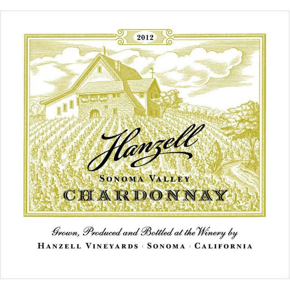 Hanzell Chardonnay 2012 Front Label