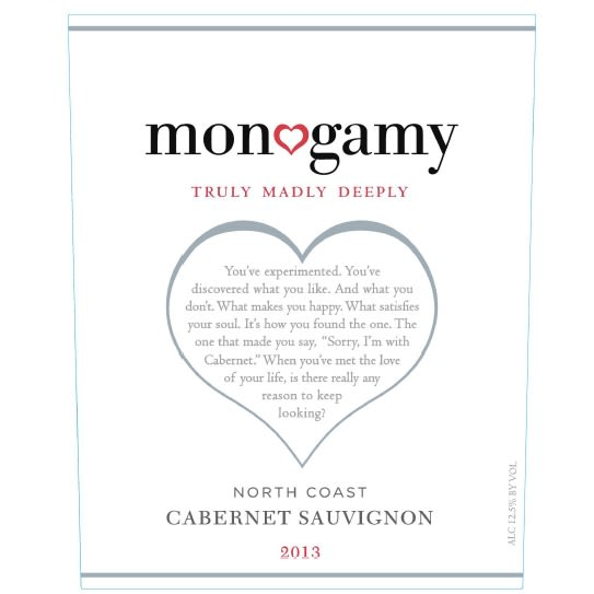 Monogamy Truly Madly Deeply Cabernet Sauvignon 2013 Front Label