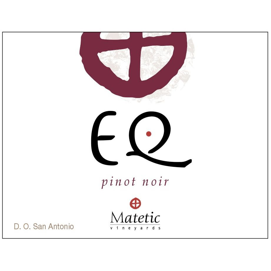 Matetic EQ Pinot Noir 2012 Front Label