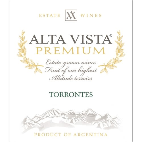 Alta Vista Estate Torrontes 2013 Front Label