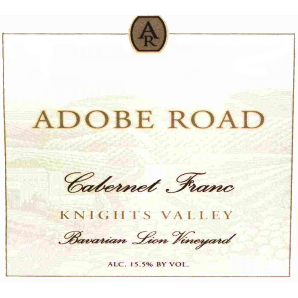 Adobe Road Cabernet Franc 2009 Front Label