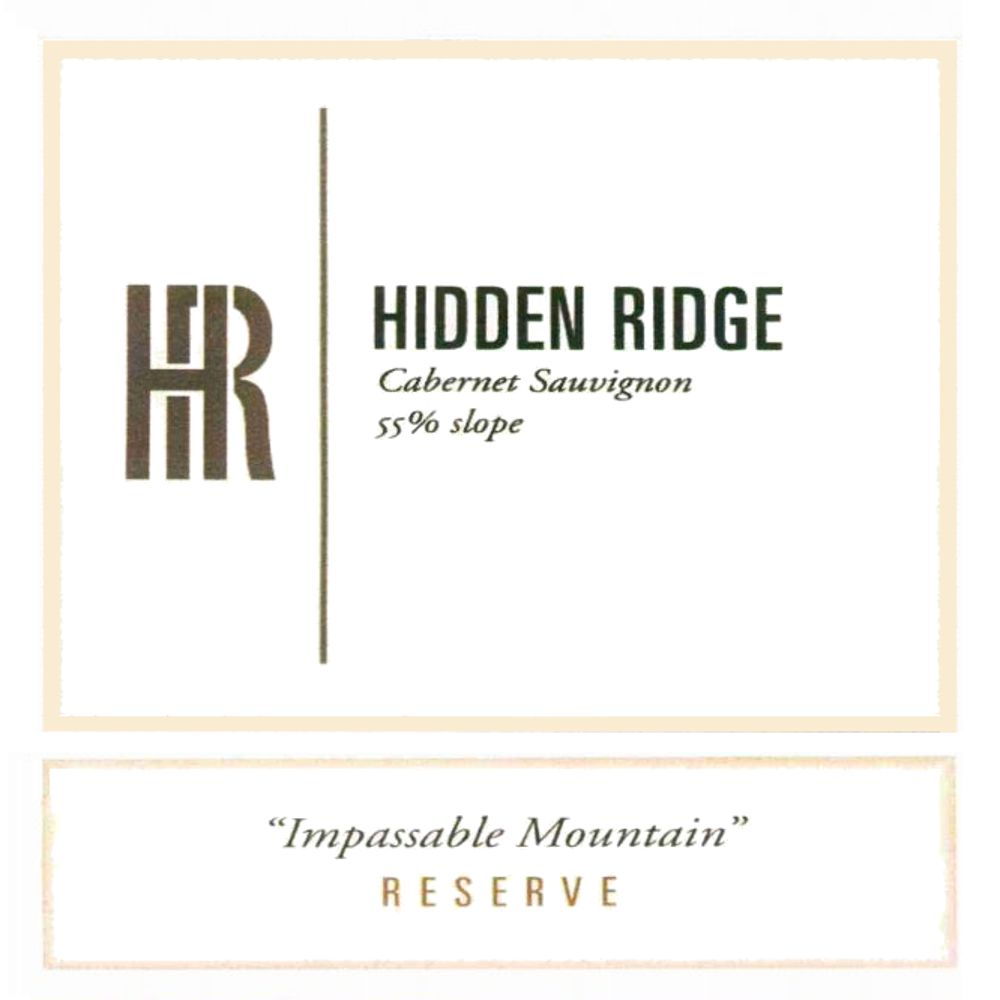 Hidden Ridge Impassable Mountain Cabernet Sauvignon (1.5 Liter) 2008 Front Label