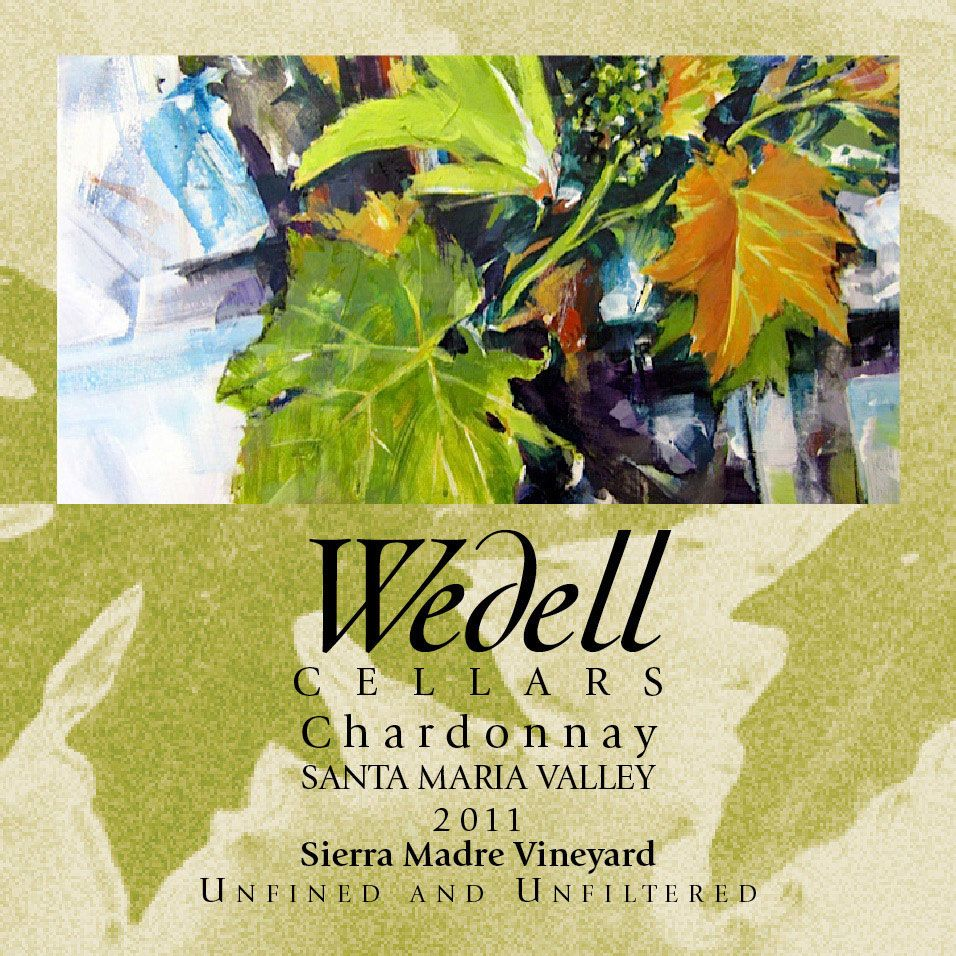 Wedell Cellars Sierra Madre Chardonnay 2011 Front Label
