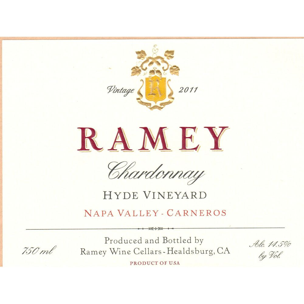 Ramey Hyde Vineyard Chardonnay 2011 Front Label