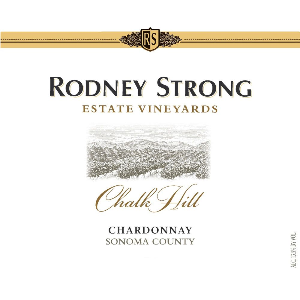 Rodney Strong Chalk Hill Chardonnay 2013 Front Label