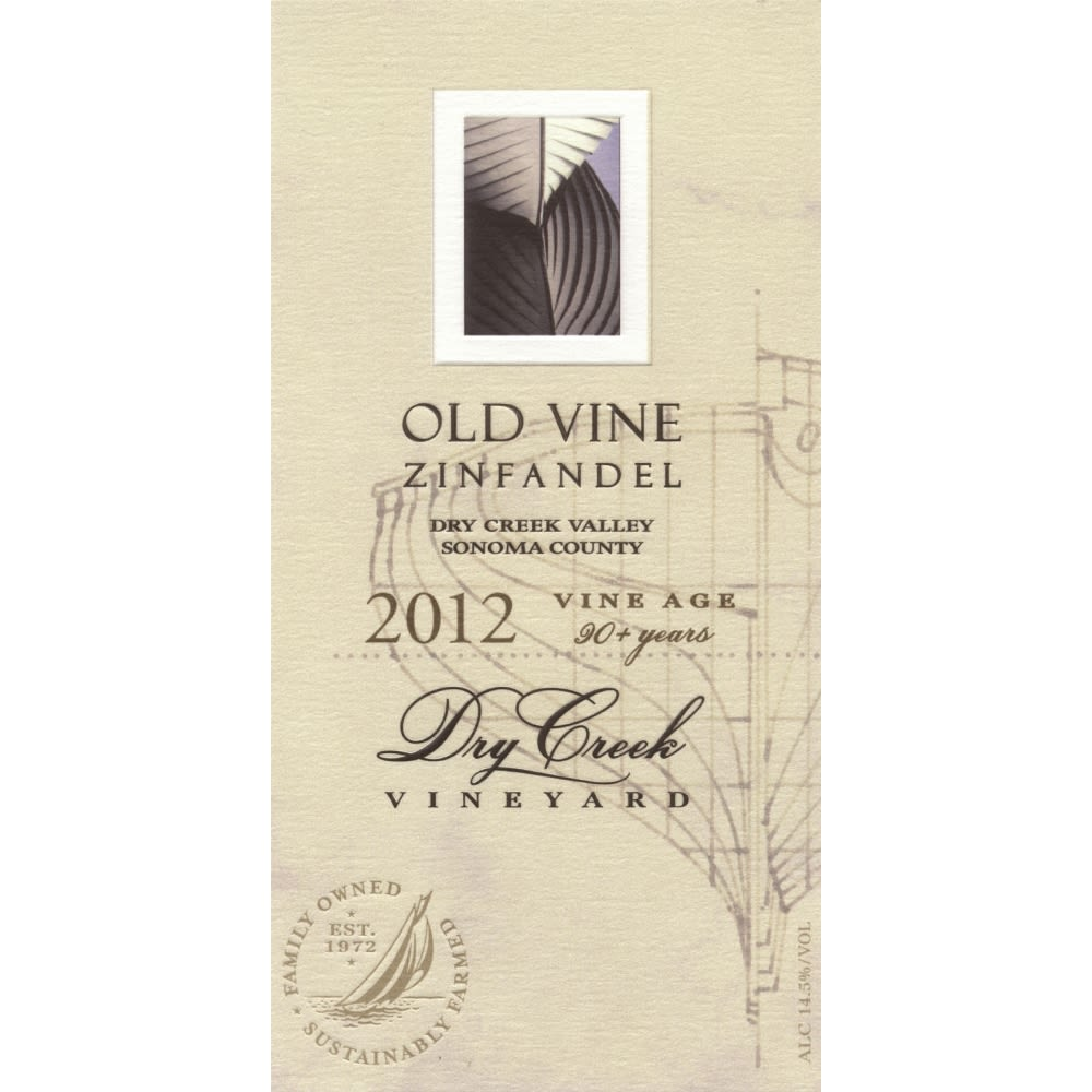 Dry Creek Vineyard Old Vine Zinfandel 2012 Front Label