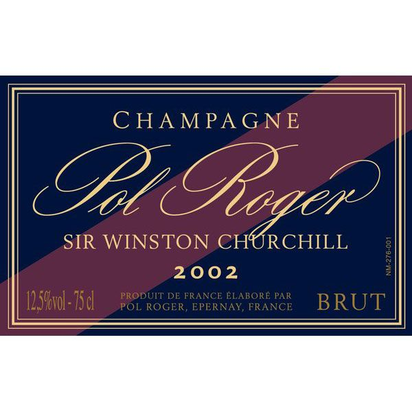 Pol Roger Sir Winston Churchill 2002 Front Label