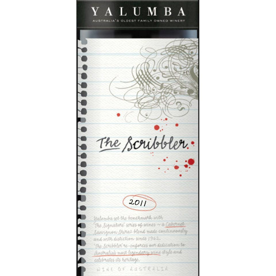 Yalumba The Scribbler 2011 Front Label