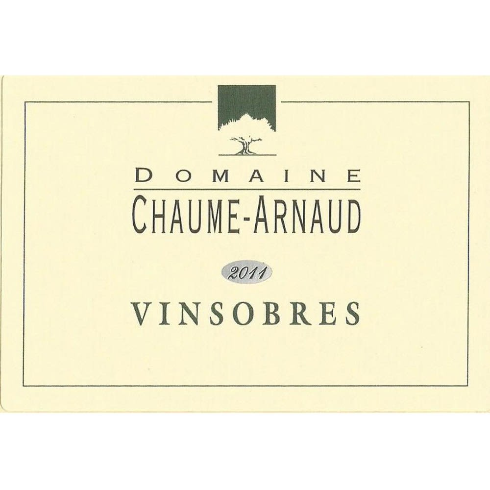 Domaine Chaume-Arnaud Vinsobres 2011 Front Label