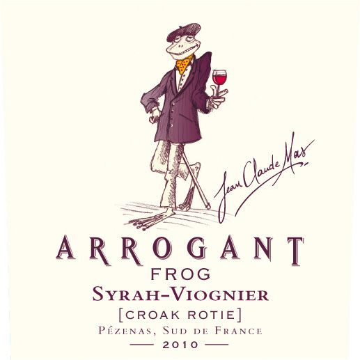 Arrogant Frog Croak Rotie Syrah-Viognier 2010 Front Label