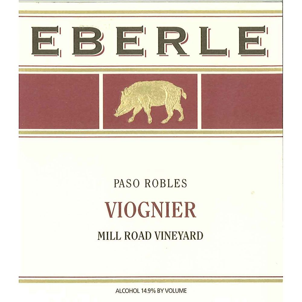 Eberle Mill Road Vineyard Viognier 2012 Front Label