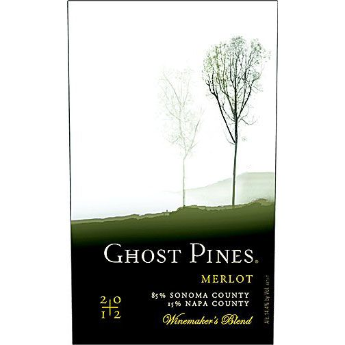 Ghost Pines Merlot 2012 Front Label