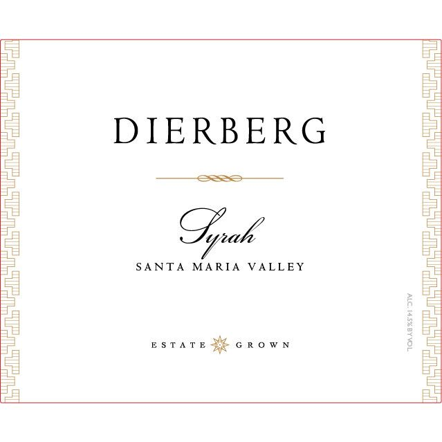 Dierberg Syrah 2010 Front Label
