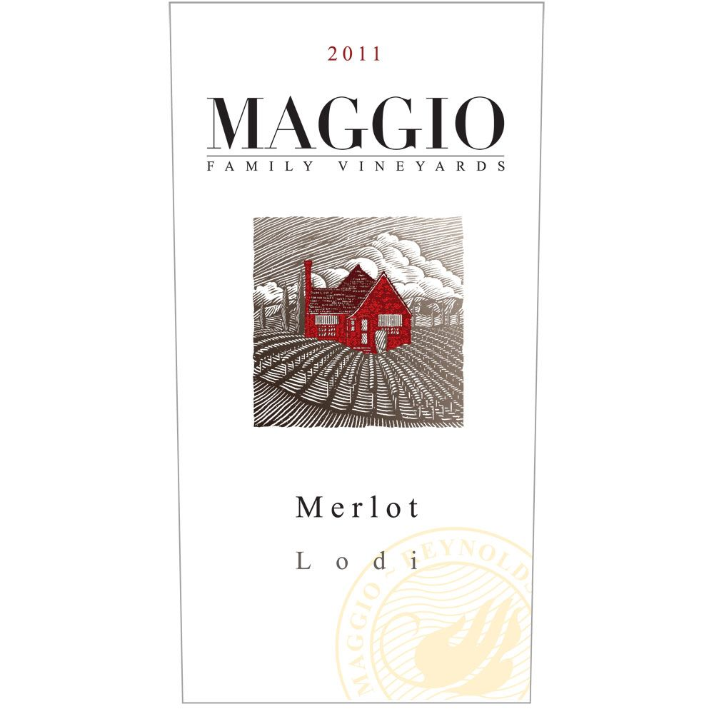 Maggio Family Vineyards Merlot 2011 Front Label