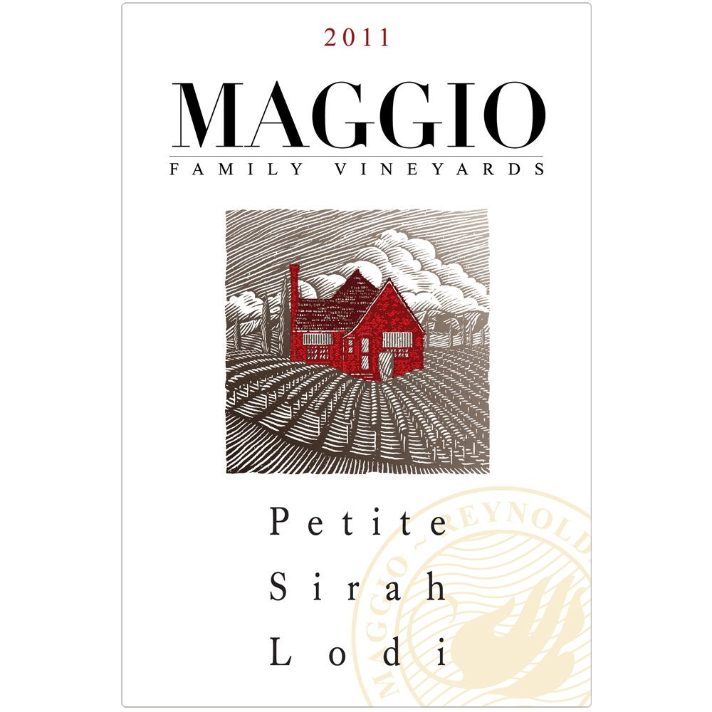 Maggio Family Vineyards Petite Sirah 2011 Front Label