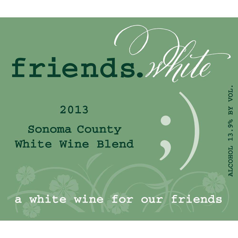 Pedroncelli friends.white 2013 Front Label