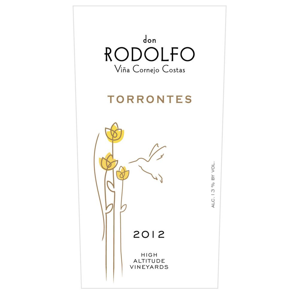 Don Rodolfo Torrontes 2014 Front Label