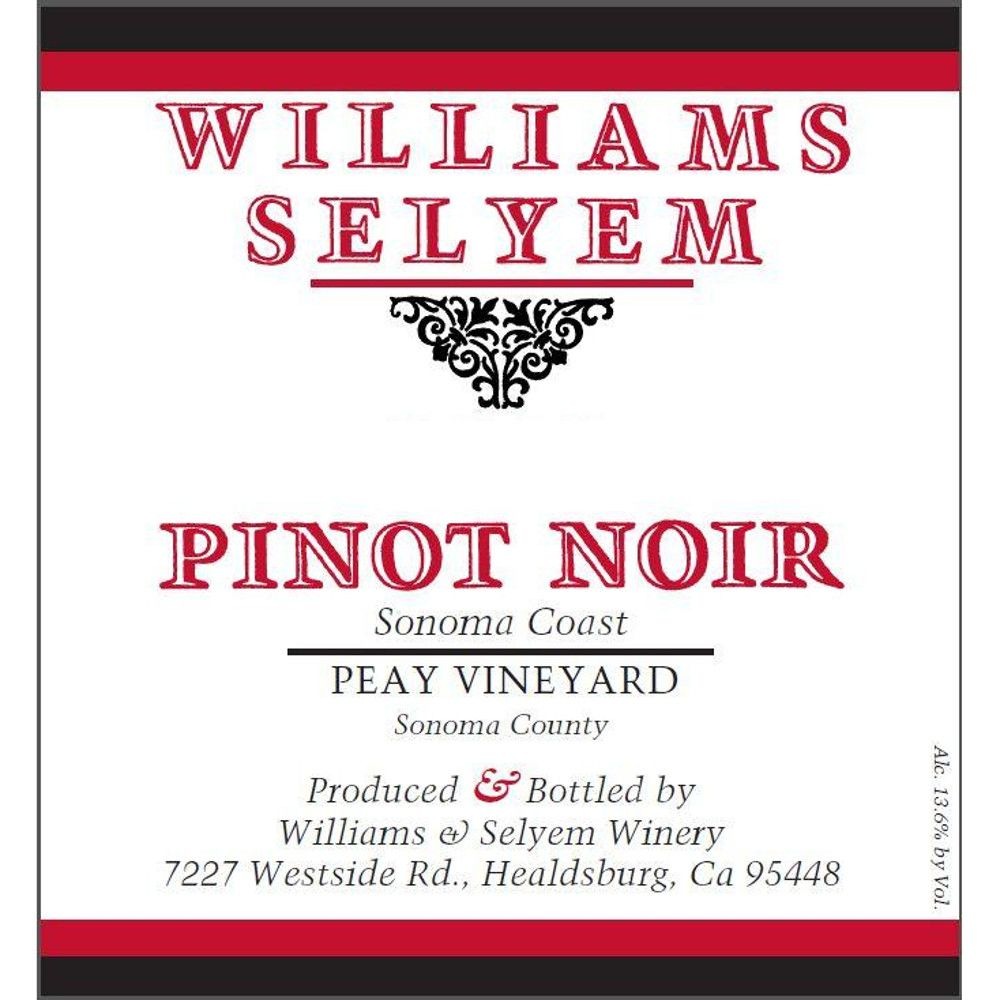 Williams Selyem Peay Vineyard Pinot Noir 2012 Front Label
