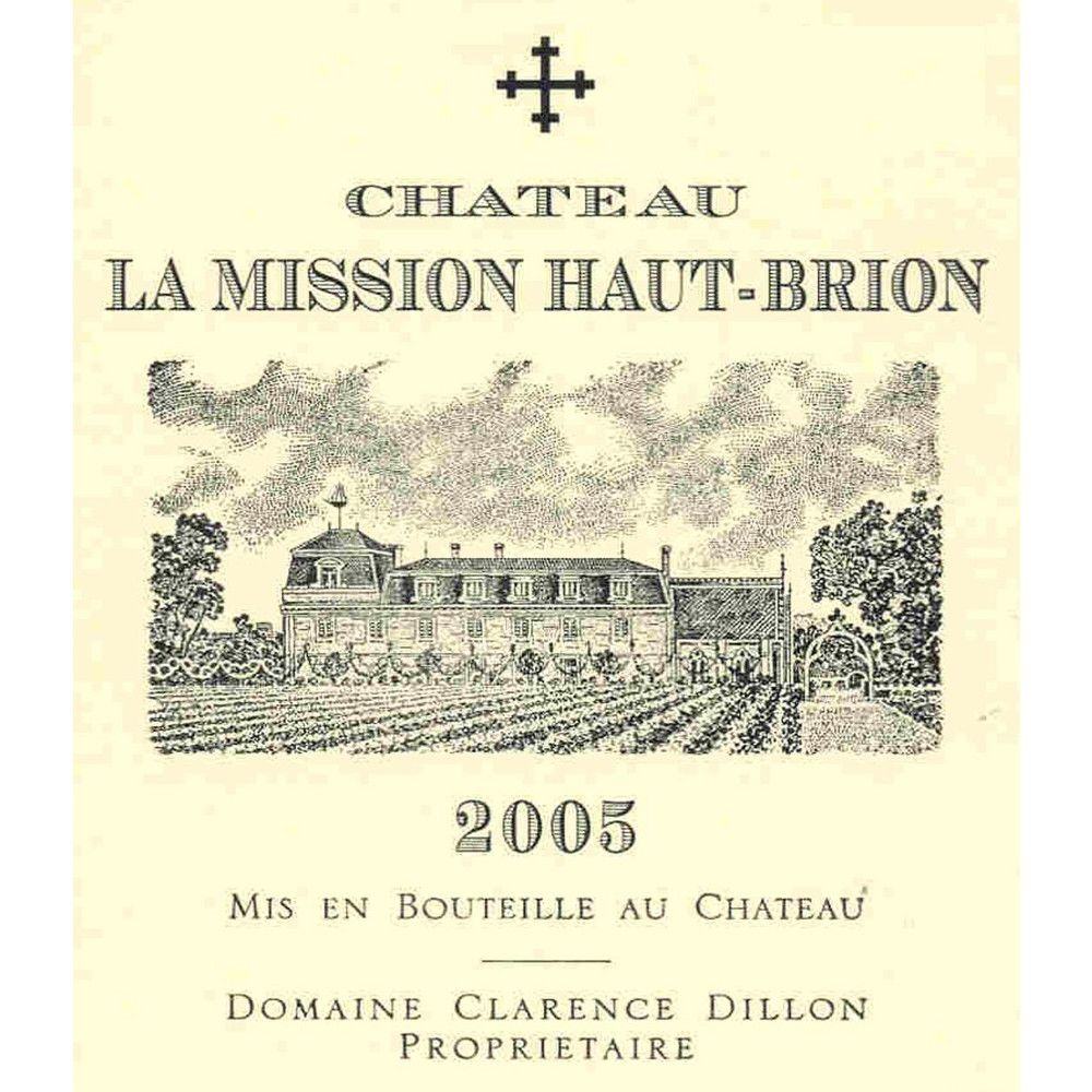 Chateau La Mission Haut-Brion (1.5 Liter Magnum) 2005 Front Label