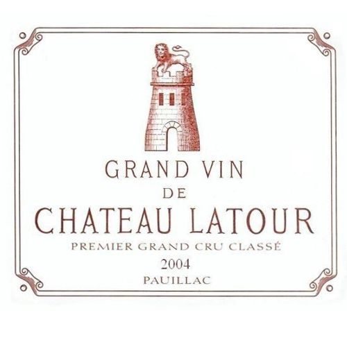 Chateau Latour (3 Liter Bottle) 2004 Front Label