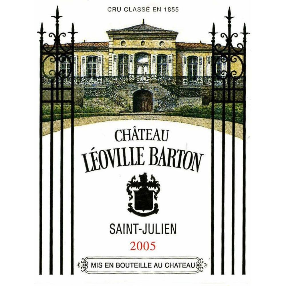 Chateau Leoville Barton (3 Liter Bottle) 2005 Front Label