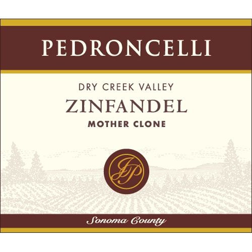 Pedroncelli Mother Clone Zinfandel 2012 Front Label