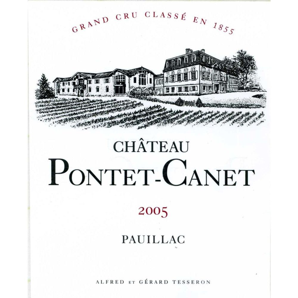 Chateau Pontet-Canet (3 Liter Bottle) 2005 Front Label