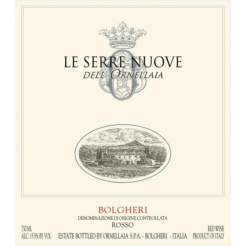 Ornellaia Le Serre Nuove (3 Liter Bottle) 2008 Front Label