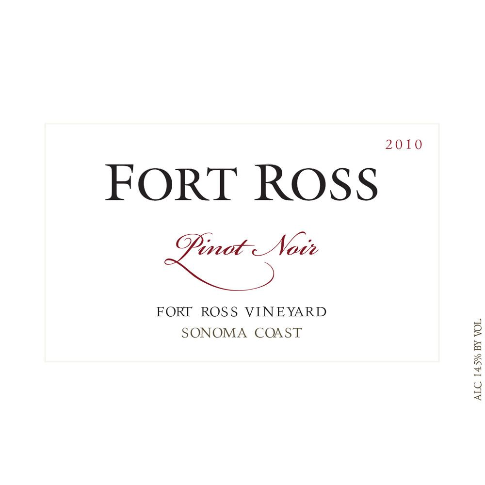 Fort Ross Vineyard Sonoma Coast Pinot Noir 2010 Front Label
