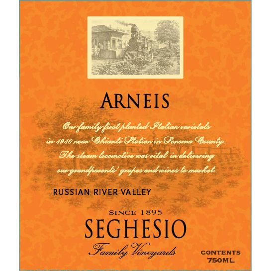Seghesio Arneis 2012 Front Label